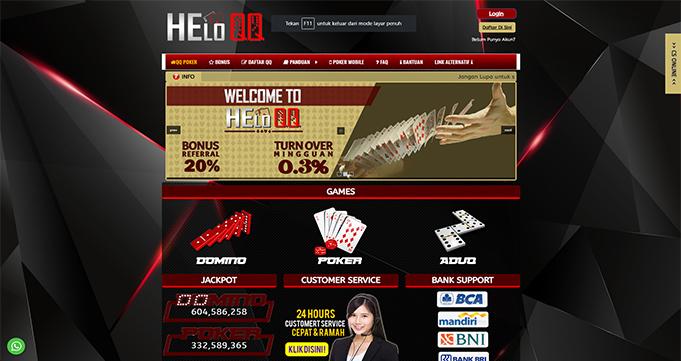 HeloQQ Agen Judi Poker Domino Online Terbaik